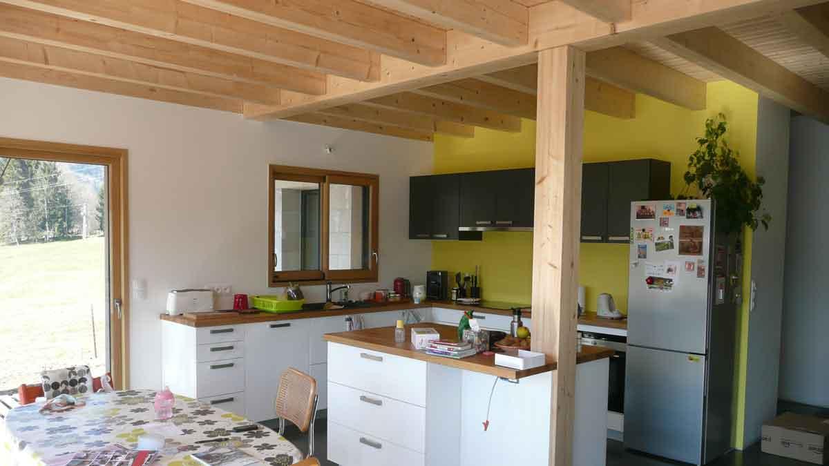 Deco interieur maison ossature bois for Interieur maison bois